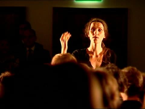 queen elizabeth opens newly-refurbished royal festival hall; england: london: royal festival hall: int children's choir perform watched by queen... - ロイヤルフェスティバルホール点の映像素材/bロール