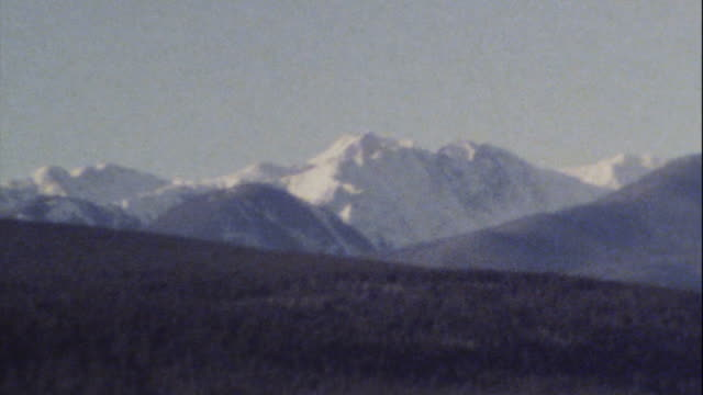 Archival 8mm footage of Rocky Mountains 01