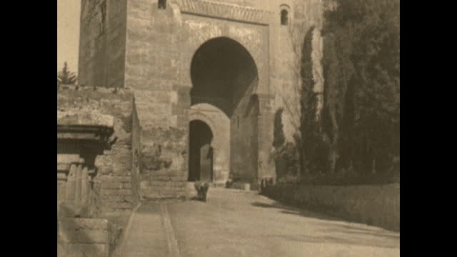 Archival film of the Alhambra palace