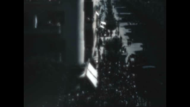archival footage of celebration for israel independence from a home movie archive / early israeli air force plane. - イスラエルパレスチナ問題点の映像素材/bロール
