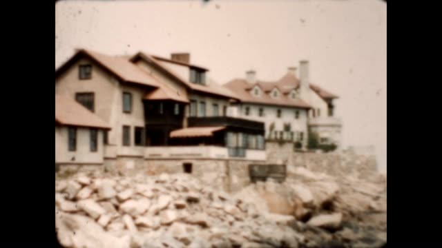 archival footage of women in front of a manchester-by-the-sea mansion during the late 1930's. - 1930 1939 stock videos & royalty-free footage