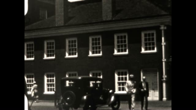 archival home movie footage of independence hall in philly in the late 1930's - 1930 1939 stock videos & royalty-free footage
