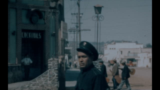 archival home movies of avenida revolución in downtown tijuana including shots of the mexicali beer hall - tijuana stock videos & royalty-free footage