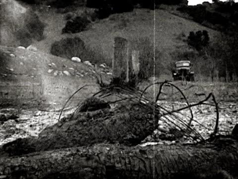 Archival WWII War Truck on Battlefield