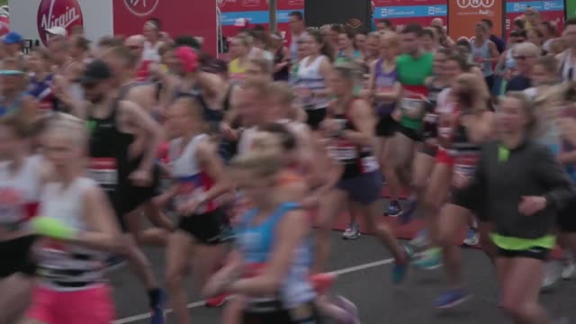 archive footage as the london marathon has been postponed due to the coronavirus outbreak organisers have announced the 40th edition of the race... - london marathon stock videos & royalty-free footage