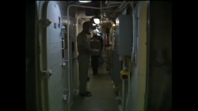 archive footage media tour on board the nuclear ship uss texas - 1983 stock videos & royalty-free footage