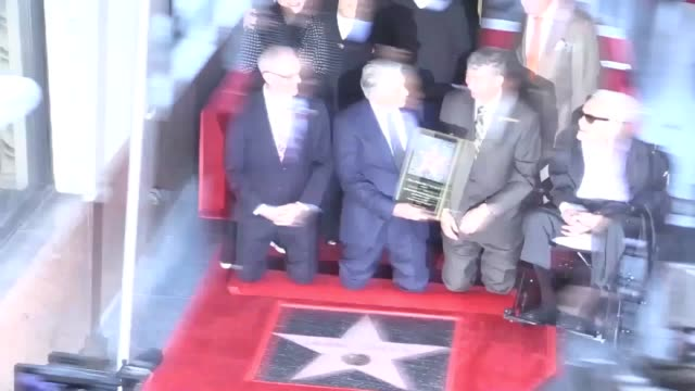 archive footage of an emotional michael douglas was honoured with a star on the hollywood walk of fame in 2018 as his proud father and fellow screen... - michael douglas stock videos & royalty-free footage