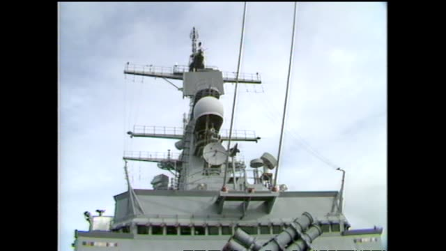 archive footage radar equipment on board the nuclear ship uss texas - 1983 stock videos & royalty-free footage