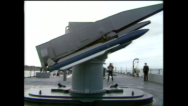 archive footage weapons on board the of nuclear ship uss texas - 1983 stock videos & royalty-free footage