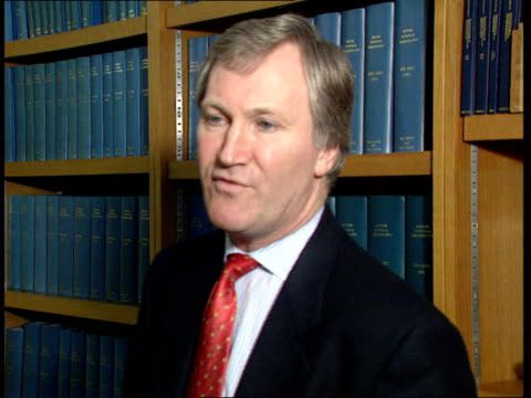 archives and libraries: new government legislation; itn int dr brian lang interview sot - problem is more things are published on cd-rom - cd rom stock videos & royalty-free footage
