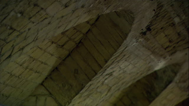archways are seen inside the tower of london. - tower of london stock videos & royalty-free footage