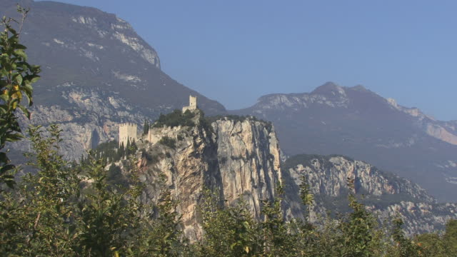 ws, arco castle, trento, italy - circa 14th century stock videos & royalty-free footage