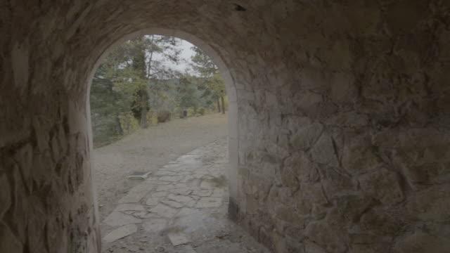 arco empedrado en el bosque - 石材点の映像素材/bロール