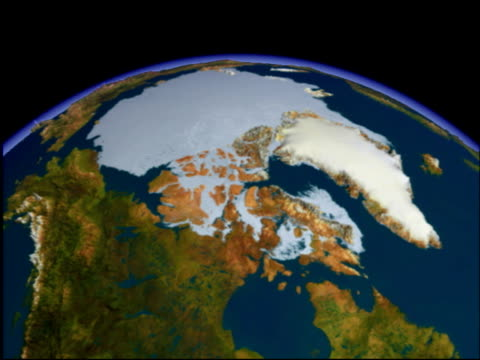 arctic, animation.. - continente area geografica video stock e b–roll