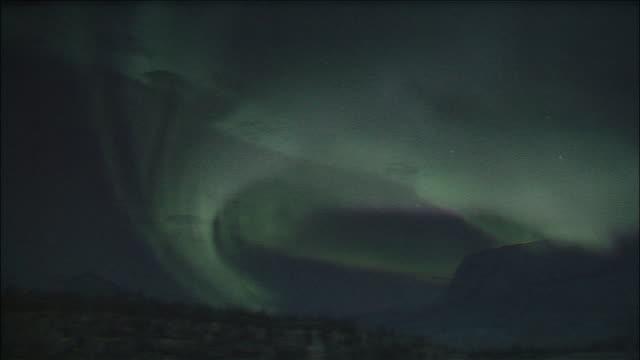 arctic auroras in night sky antarctic - antarctica night stock videos & royalty-free footage