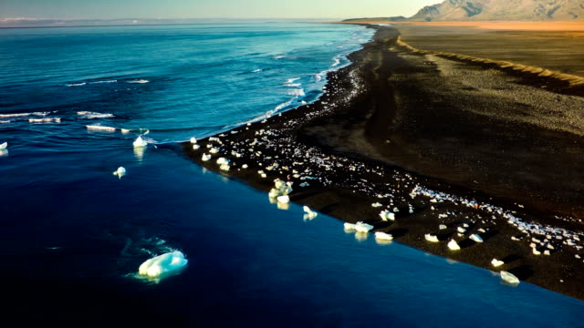 Arctic Küste mit Eisberge-Jokulsarlon Island