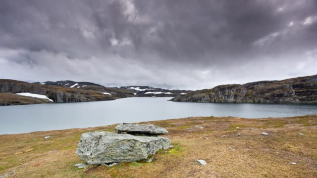 (loopable) arctic lake - extreme terrain stock videos and b-roll footage