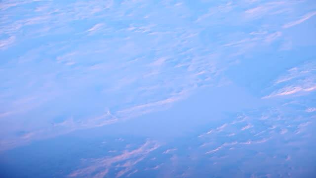 Arctische landschap antenne in de schemering