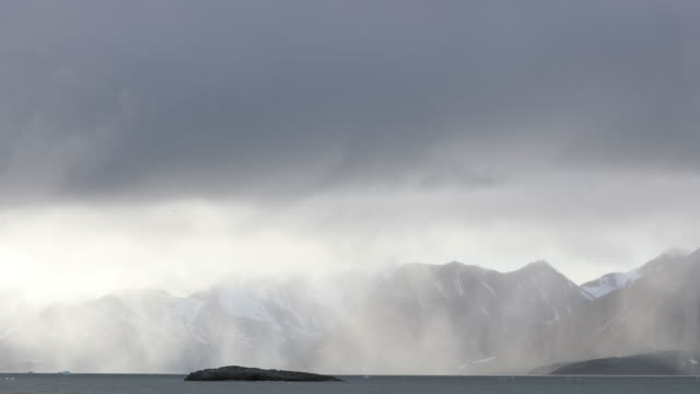 arctic landscape, rainstorm in magic light - coastline stock videos & royalty-free footage