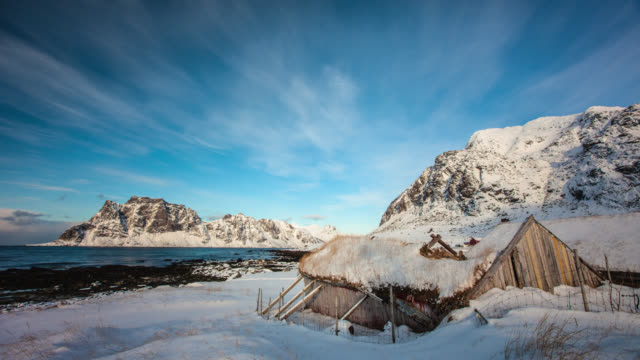 time lapse: arctic landscape - abandoned stock videos & royalty-free footage