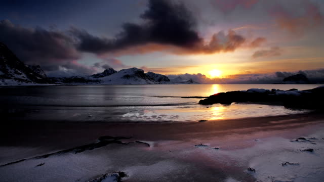 arctic landscape - antarctica sunset stock videos & royalty-free footage