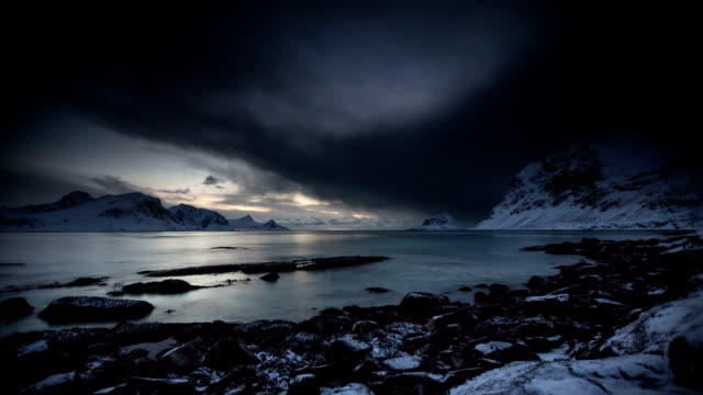 time lapse: arctic landscape - coastline stock videos & royalty-free footage