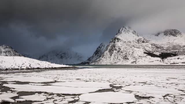 time lapse: arctic landscape - ice floe stock videos & royalty-free footage
