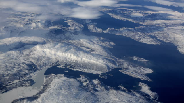 aerial: arctic landscape - antarctica stock videos & royalty-free footage