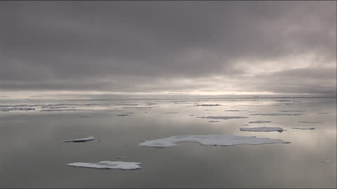 arctic scenery with ice floes on still arctic ocean - nordpolen bildbanksvideor och videomaterial från bakom kulisserna