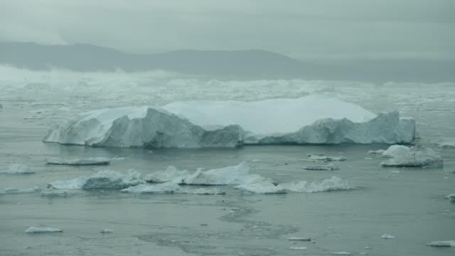 Arctic Seascape With Icebergs