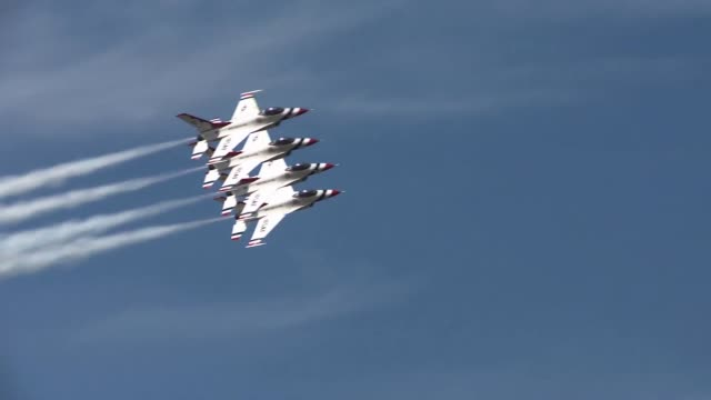 arctic thunder is a biennial event hosted by jber, featuring more than 40 air force, army, and civilian aerial acts and with more than 200,000 people... - fighter stock videos & royalty-free footage