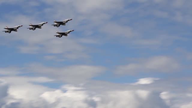 arctic thunder open house at joint base elmendorfrichardson arctic thunder is a biennial event hosted by jber featuring more than 40 air force army... - thunderbirds stock videos and b-roll footage