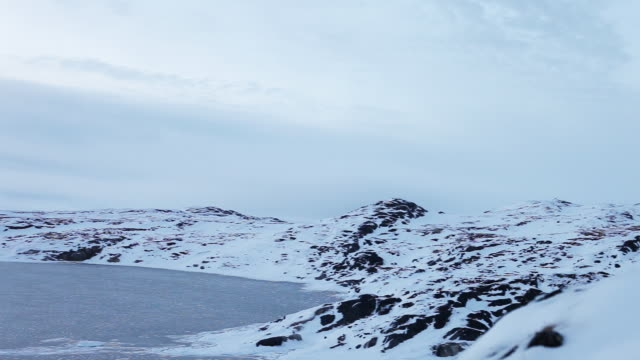 arctic tundra landscape in greenland, pan left - wide stock videos & royalty-free footage