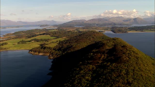 Ardmucknish Bay  - Aerial View - Scotland, Argyll and Bute, United Kingdom