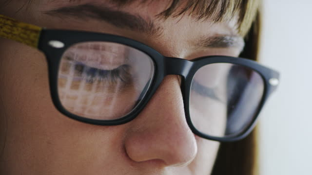 are you suffering from digital eye strain? - cornea stock videos & royalty-free footage