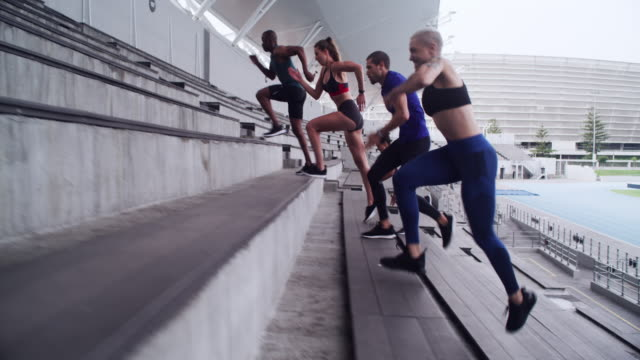 are you up for the cardio challenge? - athleticism stock videos & royalty-free footage