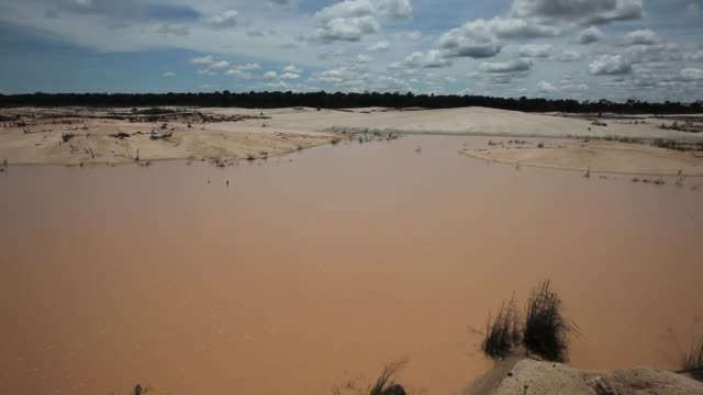 pan area devastated by the effects of illegal gold mining the region of madre de dios in southeastern peru has been devastated by illegal gold mining... - peru stock videos & royalty-free footage