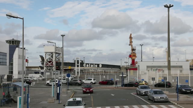 area of ferry terminal in port of calais calais nordpasdecalais france on monday october 7 2019 - ferry terminal stock videos & royalty-free footage
