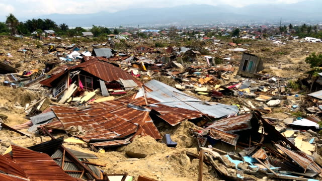 Area that was completely destroyed by an earthquake on October 04 2018 in Palu Indonesia The death toll from last weeks earthquake and tsunami has...