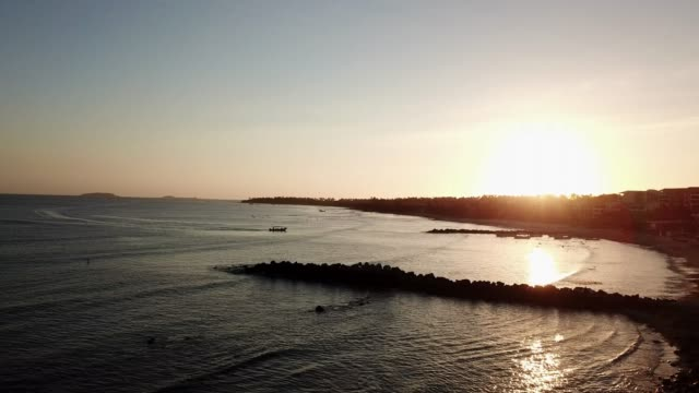 areal view of a marina in punta de mita at sunset, nayarit, mexicotravel - pelican stock videos & royalty-free footage