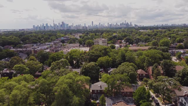 areal view of east end toronto - cityscape stock videos & royalty-free footage