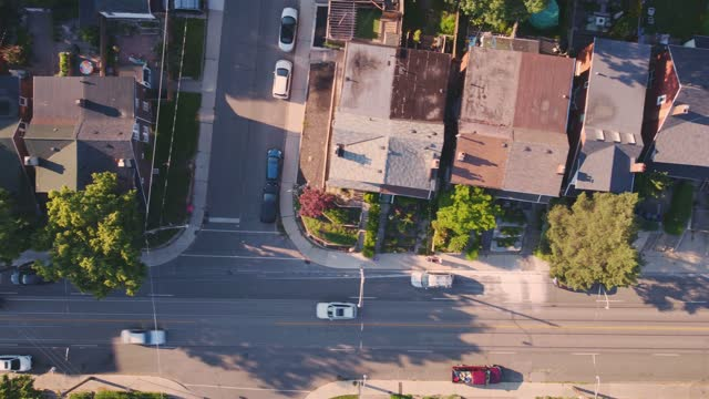 areal view of east end toronto - canada stock videos & royalty-free footage