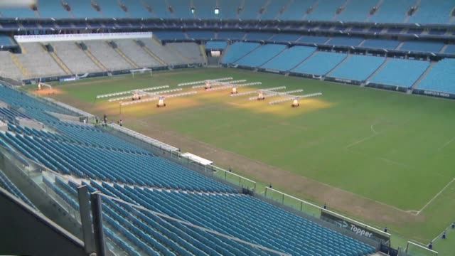 arena do gremio stadium in porto alegre is scheduled to host matches of the 2019 copa america - alegre stock videos & royalty-free footage