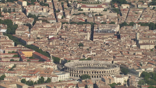 arena of nimes - amphitheatre stock videos & royalty-free footage