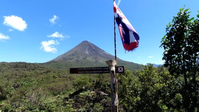vídeos y material grabado en eventos de stock de parque nacional volcán arenal en costa rica - costa rica
