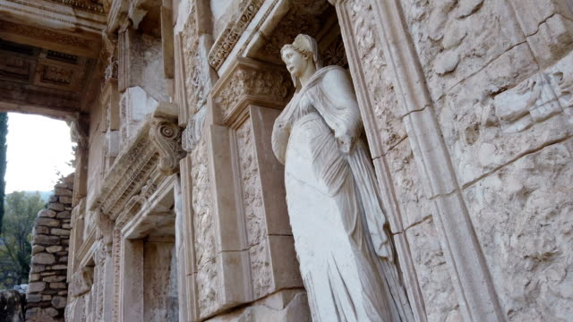 arete statue in ephesus, turkey - old ruin stock videos & royalty-free footage