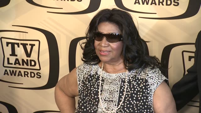 aretha franklin at tv land awards 10th anniversary arrivals at lexington avenue armory on april 14 2012 in new york ny - tv land awards stock videos and b-roll footage