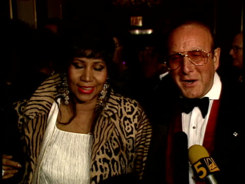 aretha franklin clive davis talk about her 40th grammy nomination - grammy awards stock videos & royalty-free footage