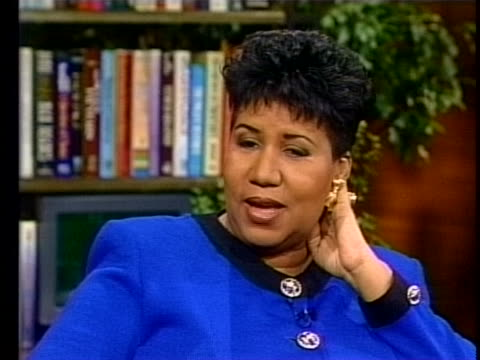 aretha franklin on performing her hit song òrespectó during an interview on october 5, 1999. - performing arts event stock videos & royalty-free footage