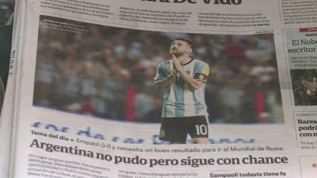 stockvideo's en b-roll-footage met argentina awakened on friday to the horrifying possibility of a world cup without the world's best player lionel messi - clean